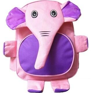 Kreative Kids Girls Purple Elephant 3D Animal Side Mesh Pockets Backpack - One size
