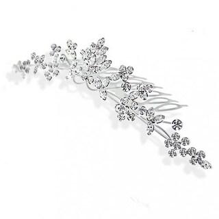 Bling Jewelry Rhinestone Crystal Princess Bridal Tiara Comb Silver Plated