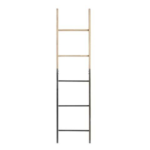 Decorative Metal Fir Wood Ladder