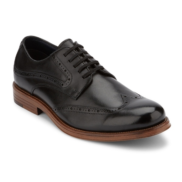 Dockers Mens Hanover Leather Dress Wingtip Oxford Shoe