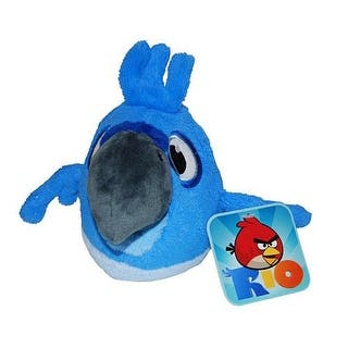 "Angry Birds Rio 5"" Basic Plush: Blu Bird