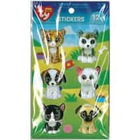 Beanie Boo 3D Stickers 12/Pkg-Pet