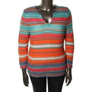 LRL Lauren Jeans Co. Womens Pullover Sweater Striped Long Sleeves - m