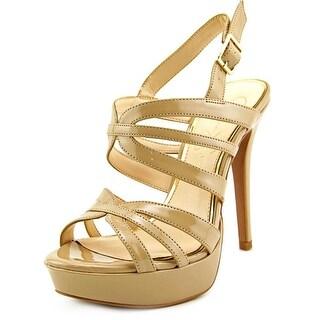 Jessica Simpson Binnie Open Toe Synthetic Platform Heel