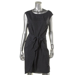 MICHAEL Michael Kors Womens Charmeuse Polka Dot Wear to Work Dress