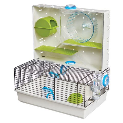 """Midwest Critterville Arcade Hamster Home 18.11"""" x 11.61"""" x 21.26"""" - Clear, Green, Blue - 18.11"""" x 11.61"""" x 21.26"""""""