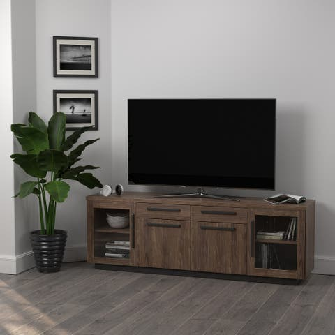 Carbon Loft Aegeus Aged Walnut 4-drawer TV Console
