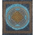 Handmade 100% Cotton Celtic Circle Tie Dye Wheel Of Life Tapestry Spread Twin Blue Beach Sheet Dorm Decor in Twin Full Queen - Thumbnail 0
