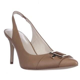 Calvin Klein Galo Pointed-Toe Slingback Pumps, Caramel