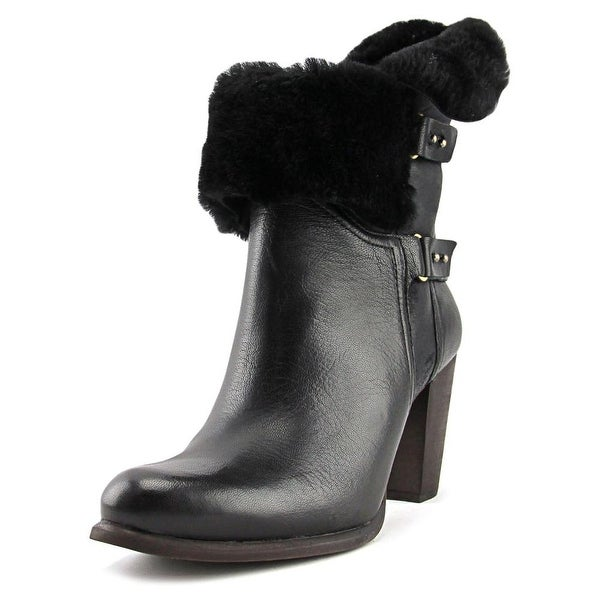 9e0a1b0fe8a Shop Ugg Australia Jayne Women Round Toe Leather Black Ankle Boot ...