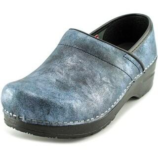 Sanita Margo Round Toe Leather Clogs