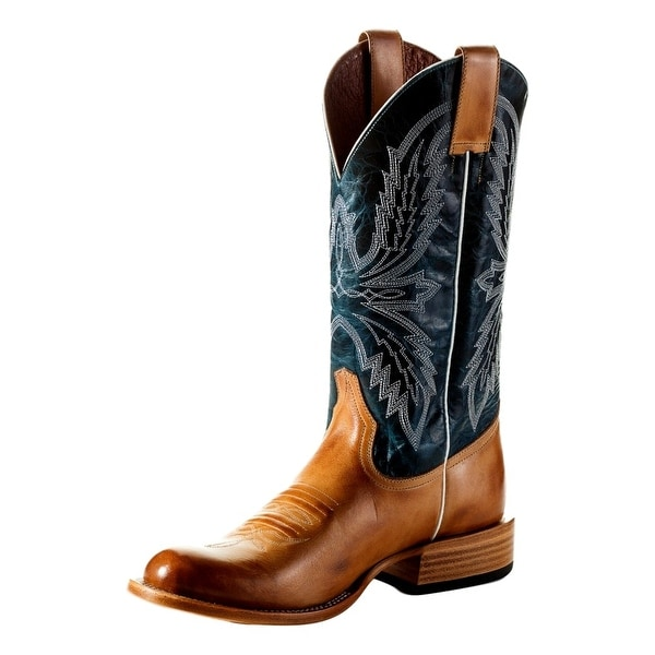 Horse Power Western Boots Mens Stitching Tabs Golden Haystack