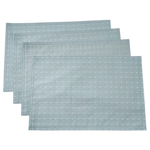 Saro Lifestyle Stitched Line Table Mats (Set of 4)