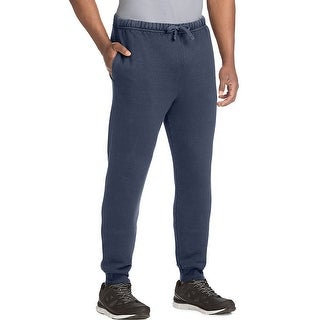 Hanes Men's 1901 Heritage Fleece Jogger Pants with Pockets - Color - Navy - Size - XL