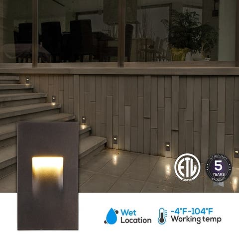 Indoor/Outdoor Stair Light, LED Step Light, 3.5W Oil Rubbed Bronze