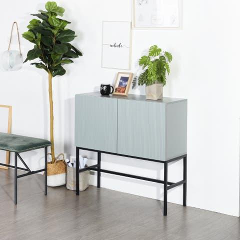 Furniture R American High Metal Leg Lower Cabinet