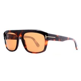 TOM FORD Square Conrad TF470 Men's 56E Dark Havana Brown Brown Sunglasses - 58mm-18mm-145mm