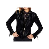 Free People Womens Jacket Wool Blend Faux Leather