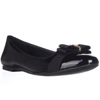 Tory Burch Trudy Ribbon Bow Ballet Flats - Black Patent