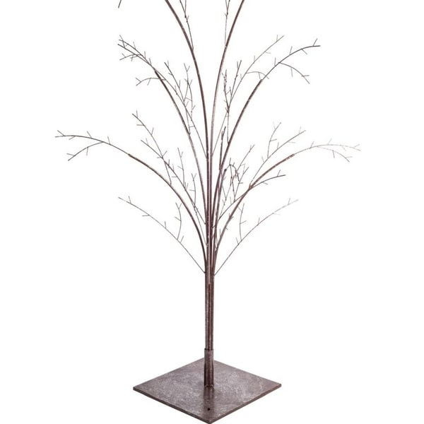 Pack of 2 Decorative Metal Brown Dropping Branches Tree