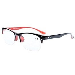 60aae74bc1bc Shop Eyekepper Readers Plastic Frame Spring Hinges Half-rim Reading Glasses  Black-red +1.0 - Free Shipping On Orders Over  45 - Overstock - 15914043
