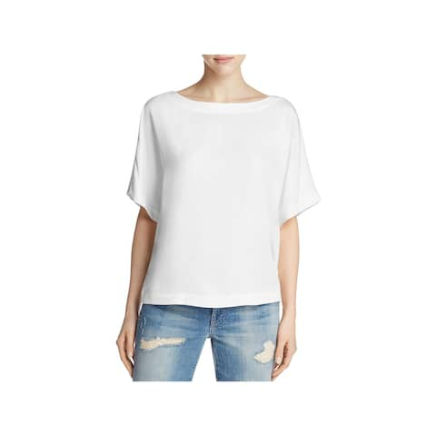 Cupcakes and Cashmere Womens Casual Top Scooped Neck Shortsleeve