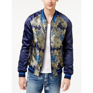 Guess Mens Bomber Jacket Embroidered Printed - L
