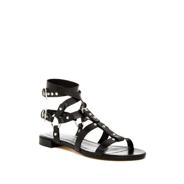 Stuart Weitzman NEW Black Women's Shoes Size 5.5M Ontherun Sandal