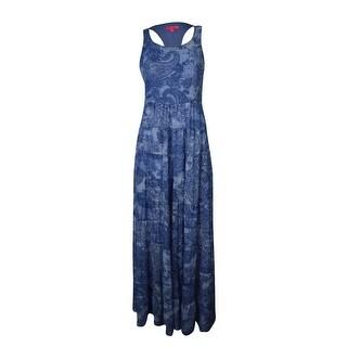 Betsey Johnson Women's Paisley Maxi Dress - Light Blue