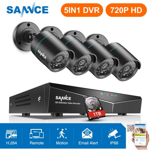 SANNCE 8CH 720P CCTV Video Security Night Vision Cameras System