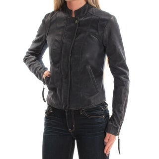 Womens Navy Casual Motorcycle Jacket Size 0