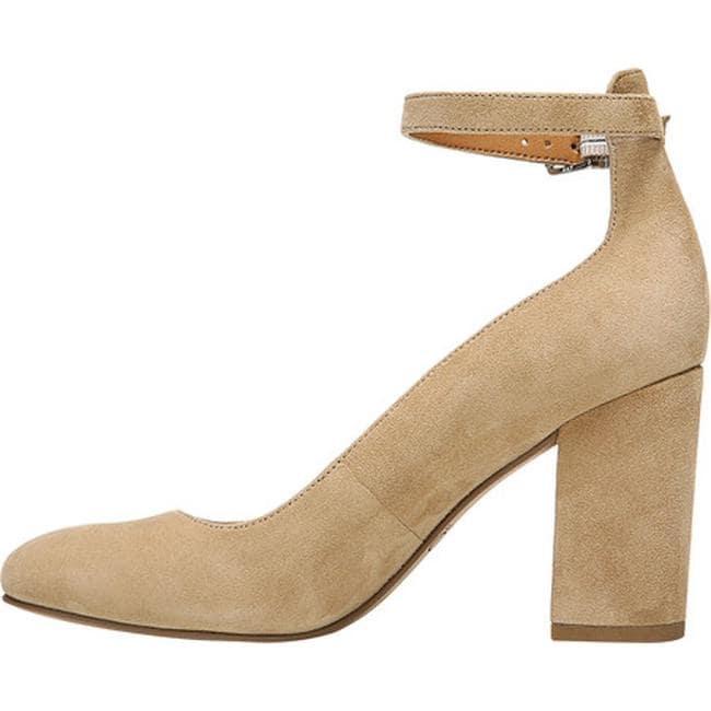 2446c9c5326 Shop Sarto by Franco Sarto Women s Abbington Ankle Strap Pump Dark Sand  Leather - Free Shipping Today - Overstock.com - 19437508