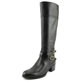 Franco Sarto Lapis Round Toe Leather Knee High Boot