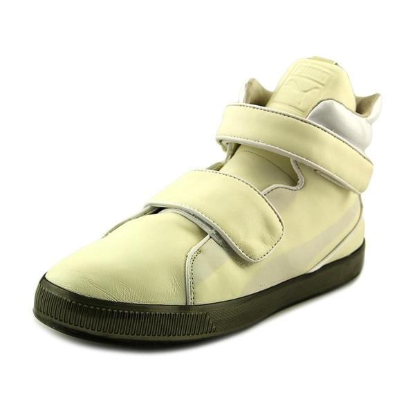 Puma Apex Round Toe Leather Sneakers