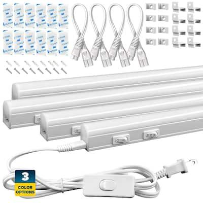 """Sunperian LED Under Cabinet Light Kit 46"""" Plug In Linkable 3 Color Option 3000K/4000K/5000K Damp Rated"""