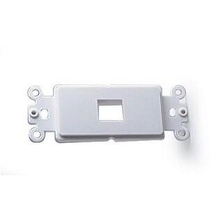 Decor Plate Insert for 1 Keystone, White