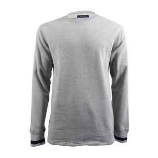 Polo Ralph Lauren Mens Brushed Jersey Cotton Blend Crewneck Sweatshirt (L, Grey) - grey - L