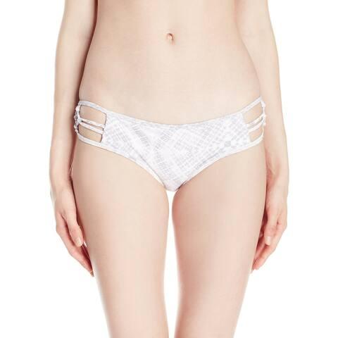 O'Neill White Womens Size Large L Cutout Bikini Bottom Swimwear