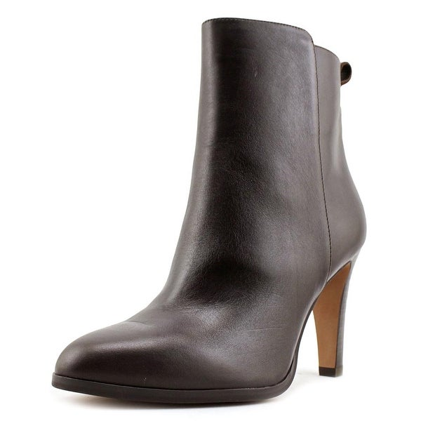 Coach Jemma Women Round Toe Leather Brown Ankle Boot