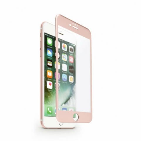 iHome IH-7P528AR Screen Protector for iPhone 6 / 6S / 7, Rose Gold