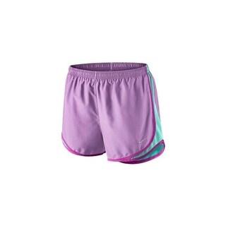 Nike Women's Tempo Running Shorts 624278 - violet shock/light aqua/fuchsia flash/matte silver - X-LARGE