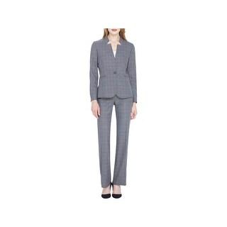 Tahari ASL Womens Pant Suit Professional Office Wear