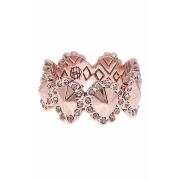 House of Harlow by Nicole Richie Womens Geodesic Fashion Ring Rose Gold