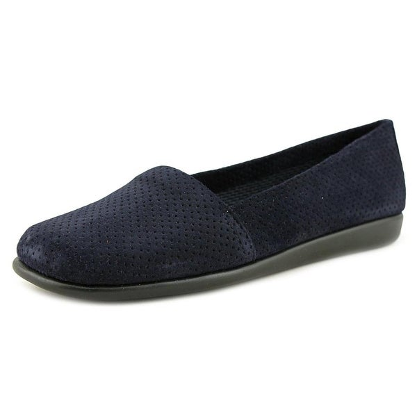 Aerosoles Mr Softee Women W Round Toe Patent Leather Blue Loafer
