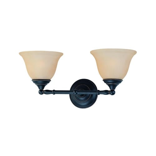 Thomas Lighting SL770263 Rockford 2-light Bath Fixture, Painted Bronze - painted bronze