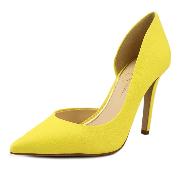 f9e573e598 Shop Jessica Simpson Claudette Women Pointed Toe Synthetic Yellow ...