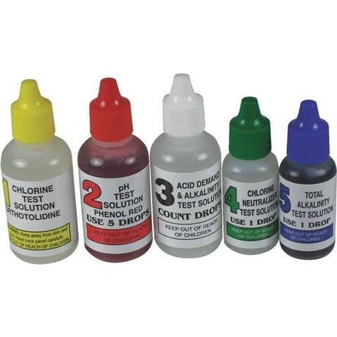 JED Pool Tools 5-Way Refill Test Kit 00-330 Unit: EACH