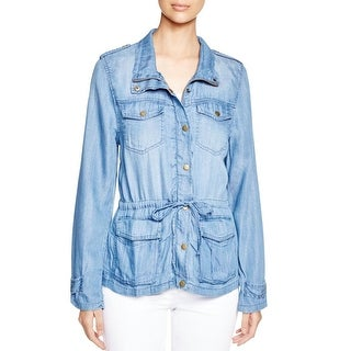 4Our Dreamers Womens Jacket Chambray Tencel