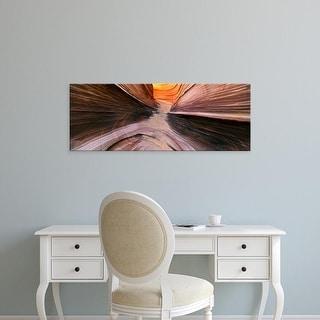 Easy Art Prints Panoramic Images's 'Rocks at a canyon, Vermillion Cliffs, Arizona, USA' Premium Canvas Art