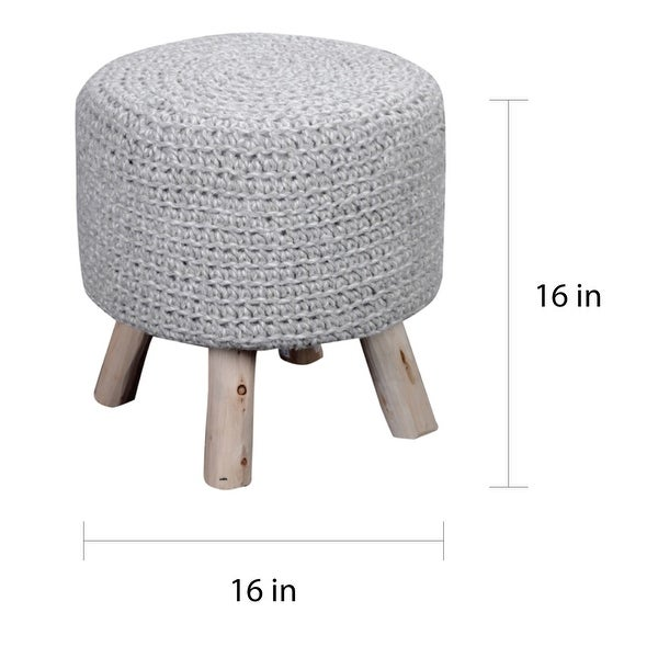 Montana Handcrafted Ottoman Stool by Christopher Knight Home